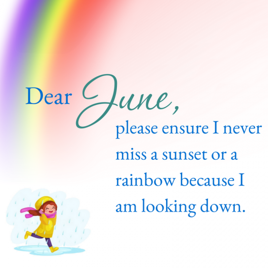 Hello June, June is the month to...