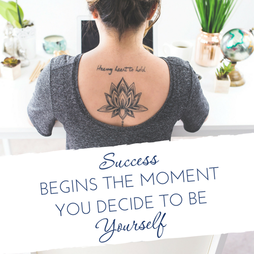 success begins when you decide to be yourself - stop comparing yourself to others