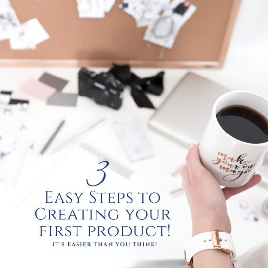 3 easy steps to creating your first product