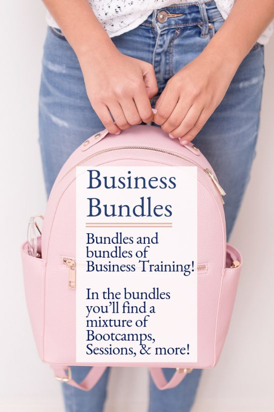 Business Training Bundles Inside the Virtual Studio.