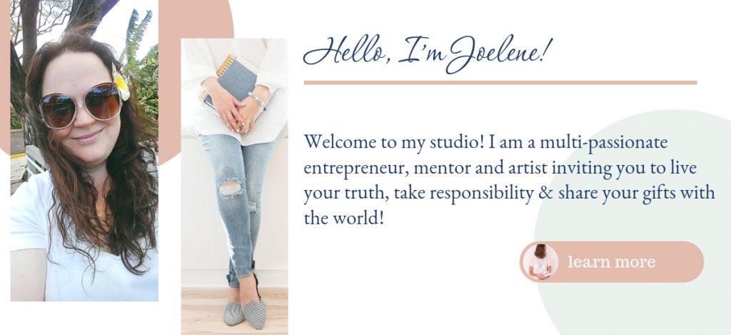 Joelene Mills Welcome to the virtual studio