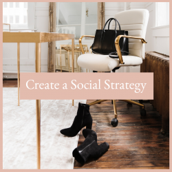 womans executive office with her purse on a chair and shoes on the floor plan your social strategy. Free Resources