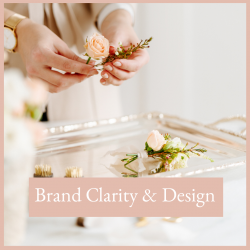 Executive woman working in her office creating a bouquet of flowers brand clarity and design bundle free resrouces