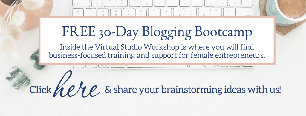 share your brainstorming ideas with us in the workshop facebook group