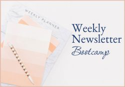 executive woman's desk with weekly planner and pen weekly newsletter bootcamp