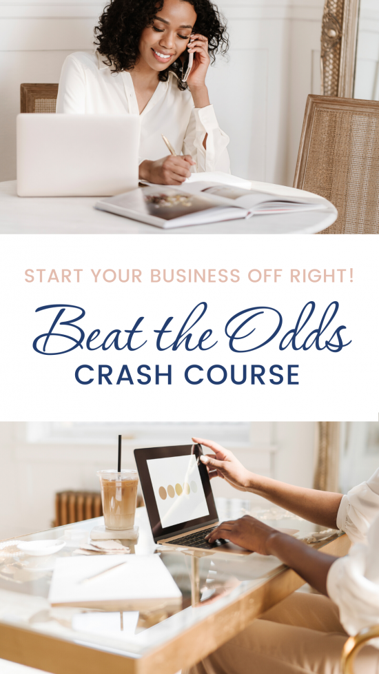 Beat the Odds crash course business training from inside the virtual studio