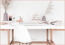 Introducing Start Your Own Business Bundle, desk in Woman's office