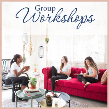 Group Workshops Executive woman sitting and talking 1 on 1 with business coach joelene mills, starting your own business