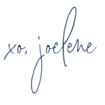 signature of joelene mills, thank you