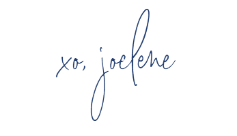 signature of joelene mills, thank you