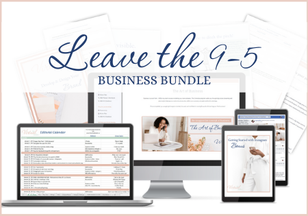 images of courses included in the Leave the 9-5 business bundle, Work with me, one on one coaching with Joelene Mills