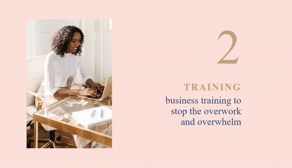 Thank you, for becoming an Insider, business training to stop the overwork and overwhelm. Woman working in her home office
