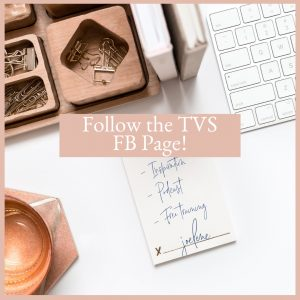 Follow the TVS Facebook Page for free training, podcast information and Inspiration with Joelene Mills