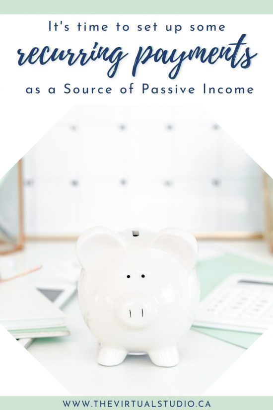 recurring payments, day 28 of 30 day passive income challenge