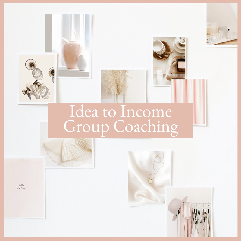 photographs of different industries, idea to income group coaching program, resources