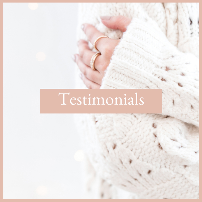 woman in white sweater hugging herself, testimonials for the virtual studio, resources