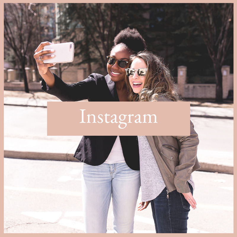 two women taking a selfie outside with sunglasses on, TVS on Instagram