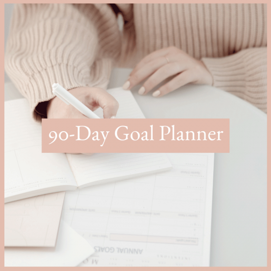 Resources - free 90 day goal planner