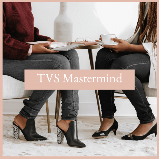 two women collaborating at the tvs mastermind